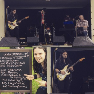 9th Aug - The Passing Sages first gig at the Limekilns Gala 12th August 2017